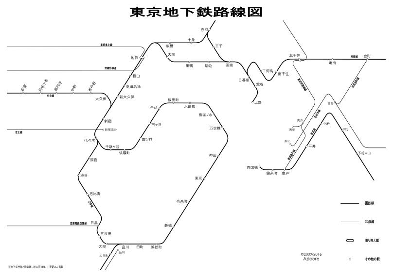 1924年12月31日時点での東京地下鉄路線図